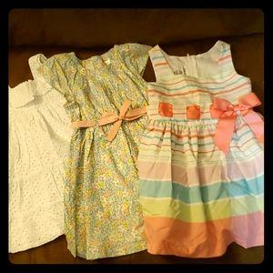 Girls Spring Summer Dress Bundle - 3T